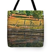 Fence Reflection Tote Bag
