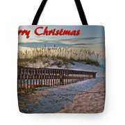 Fence To The Beach Tote Bag