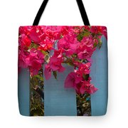 Fence With Bouganvillia Tote Bag