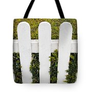 Fence With Hedge Tote Bag