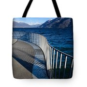 Fence With Shadow Tote Bag