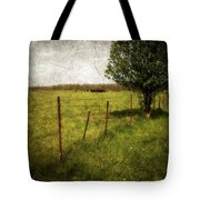 Fence With Tree Tote Bag