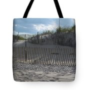Fenced Dune Tote Bag