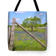 Fenced-in Beauty Tote Bag by Lynn Bauer