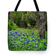 Fenced In Bluebonnets Tote Bag