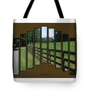 Fenced Pasture Tote Bag