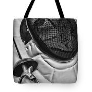 Fencing - Fencing Mask And Sword Tote Bag