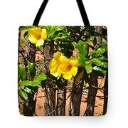 Fency Free Brazlian Flowers Tote Bag