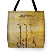 Fender Guitar Patent On Canvas Tote Bag