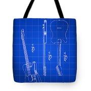 Fender Guitar Patent 1951 - Blue Tote Bag
