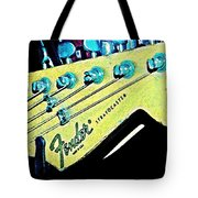 Fender Head In Watercolor Photo Tote Bag
