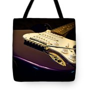 Fender Stratocaster In Blue Tote Bag