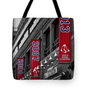 Fenway Boston Red Sox Champions Banners Tote Bag