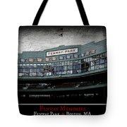 Fenway Memories - Poster 1 Tote Bag
