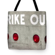Fenway Park Strike - Out Scoreboard  Tote Bag