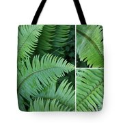 Fern Collage Tote Bag
