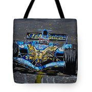 Fernando Alonso In Blue Tote Bag