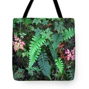 Ferns Along The Columbia River Tote Bag
