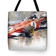 1971 Ferrari 312 B2 1971 Monaco Gp F1 Jacky Ickx Tote Bag