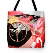 Ferrari Cockpit Monterey Watercolor Tote Bag