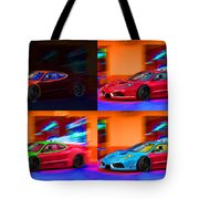 Ferrari Collage Tote Bag