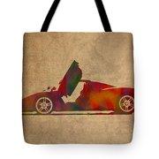 Ferrari Enzo 2004 Classic Car Watercolor On Worn Distressed Canvas Tote Bag