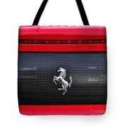 Ferrari - Rear Grill And Stallion Badge Tote Bag