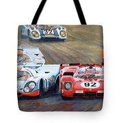 Ferrari Vs Porsche 1970 Watkins Glen 6 Hours Tote Bag