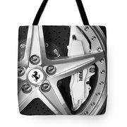 Ferrari Wheel Emblem Tote Bag
