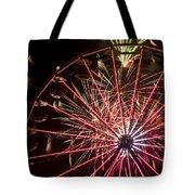 Ferris Wheel And Fireworks Tote Bag