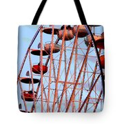Ferris Wheel At Sunset Tote Bag