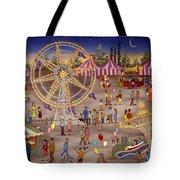Ferris Wheel At The Carnival Tote Bag