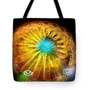 Ferris Wheel Flower Tote Bag