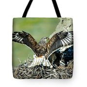 Ferruginous Hawk Male At Nest Tote Bag