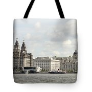 Ferry At Liverpool Tote Bag