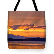 Ferry Crossing Sunset Tote Bag