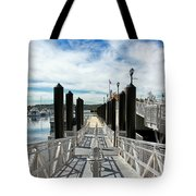Ferry Dock Tote Bag