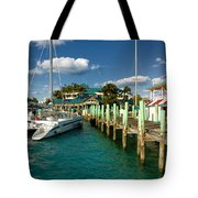 Ferry Station Paradise Island Tote Bag