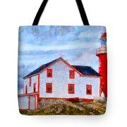 Ferryland Lighthouse In Newfoundland Tote Bag