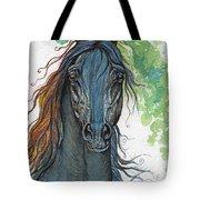 Ferryt Polish Black Arabian Horse Tote Bag