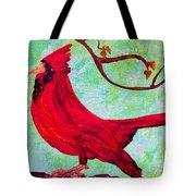 Festive Cardinal Tote Bag