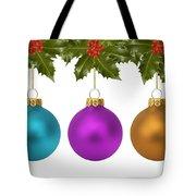 Festive Christmas Baubles Tote Bag