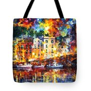 Few Boats - Palette Knife Oil Painting On Canvas By Leonid Afremov Tote Bag