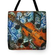Fiddle 1 Tote Bag by Sue Duda