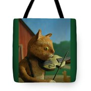 Fiddle Cat 2 Tote Bag