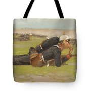 Field Drill For The Prussian Infantry  Tote Bag by Frederic Remington