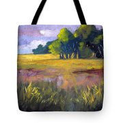 Field Grass Landscape Painting Tote Bag
