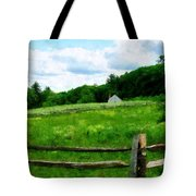 Field Near Weathered Barn Tote Bag