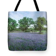 Field Of Bluebonnet Flowers, Texas, Usa Tote Bag