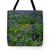 Field Of Bluebonnets Tote Bag